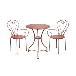 CENTURY Set zahradního nábytku pro 2 osoby - tm. červená