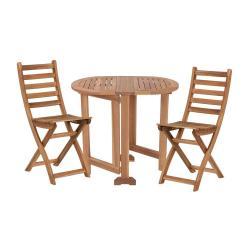 WINGS Balkónový set nábytku pro 2 osoby - přírodní