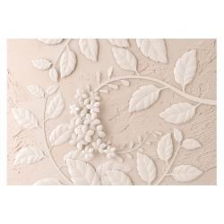 Velkoformátová tapeta Artgeist Beige Paper Flowers, 400x280cm