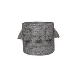 Šedý ručně tkaný box z konopného vlákna Nattiot, ∅ 30 cm