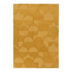 Žlutý vlněný koberec Flair Rugs Gigi, 200 x 290 cm