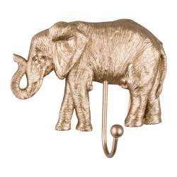Věšák ve zlaté barvě Leitmotiv Elephant