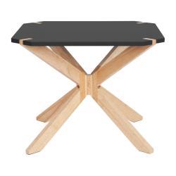 Černý konferenční stolek Leitmotiv Mister, 60x60cm