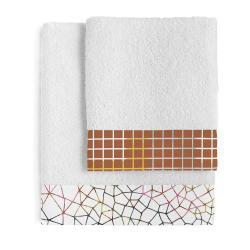Sada 2 bavlněných ručníků Blanc Net