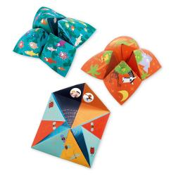 Sada 8 origami papírů se samolepkami Djeco Fortune
