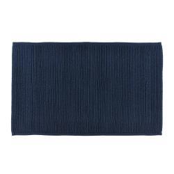 Modrá koupelnová předložka z bavlny Södahl, 50x80cm