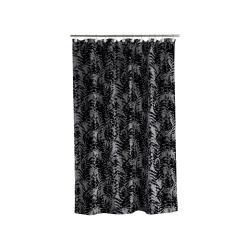 Černo-šedý sprchový závěs Södahl Leaves, 180x200cm