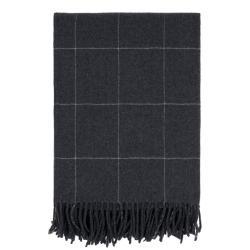 Černý pléd s vysokým podílem vlny Södahl Ella, 130x170cm