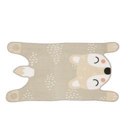 Béžový dětský koberec z bavlny Södahl Bear, 62 x 120 cm