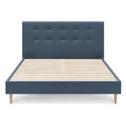 Modrá dvoulůžková postel Bobochic Paris Light, 180 x 200 cm