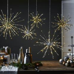 Best Season LED dekorační světlo Firework, 5 variant, stříbro