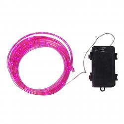 Best Season LED světelná hadice Tuby, na baterii, růžová