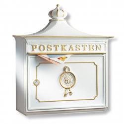 Burgwächter Bordeaux poštovní schránka hliníkový odlitek bílá