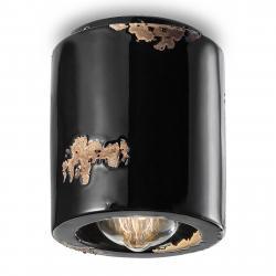 Ferro Luce Stropní světlo C986 ve stylu vintage, černá