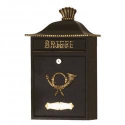 Heibi Poštovní schránka MARENO černá se zlatým dekorem
