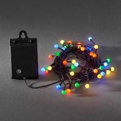 Konstmide CHRISTMAS Pestrý venkovní světelný řetěz 40 LED RGB, baterie