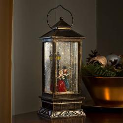 Konstmide CHRISTMAS Vysoká dekorativní lucerna Zimní scéna