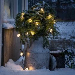 Konstmide CHRISTMAS Světelný řetěz Biergarten 20 kapek čirá teplá bílá