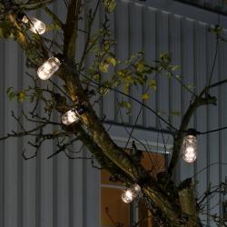 Konstmide CHRISTMAS Světelný řetěz Biergarten 10 LED čirá teplá bílá