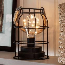 Konstmide CHRISTMAS LED kovová lucerna, kulatá
