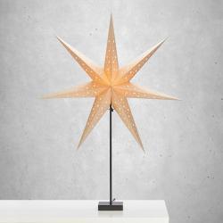 Markslöjd Stojací hvězda Solvalla, výška 100 cm, zlatá