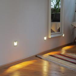 Pamalux LED nástěnné zapuštěné světlo Pen, hranaté