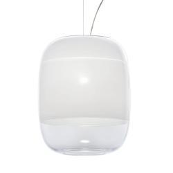 PRANDINA Prandina Gong S3 závěsné světlo, bílé
