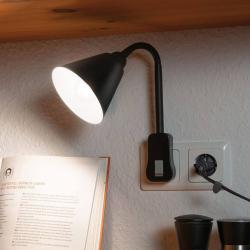 Paulmann Paulmann Junus světlo se zásuvkou, rameno, černá