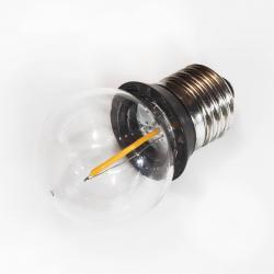 Rotpfeil E27 0,9W COB-LED žárovka-kapka s těsnicím kroužkem