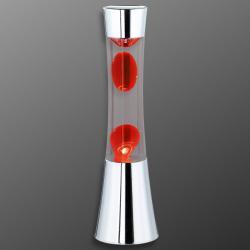 Reality Leuchten Lávová lampa Jarva chrom, červená láva