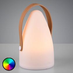 Reality Leuchten Venkovní ozdobná lampa Haiti s baterií RGB