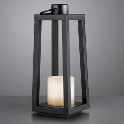 Reality Leuchten LED solární stojací lampa Loja s efektem plamene