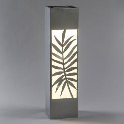 Saico LED solární sloup, nerezová ocel, motv kapradí