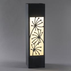 Saico LED solární sloup, beton, květinový motiv