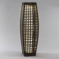 Saico LED solární sloup rattan, klenutý, hnědý