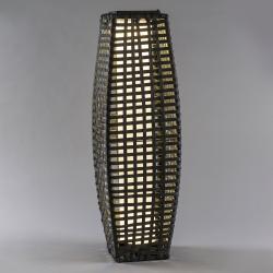 Saico LED solární sloup rattan, klenutý, tmavě šedý