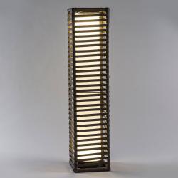 Saico LED solární sloup ratan, hranatý