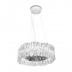 Slamp Slamp Accordéon LED závěsné světlo stříbro 3000 K