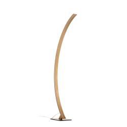 Schuller Oblouková lampa LED Arcus se zlatým povrchem