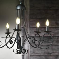 ONLI Lustr Pompei bez stínidlo na lampu, černý