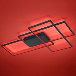 Trio Lighting Trio WiZ Thiago LED stropní světlo 114cm, antracit