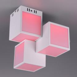 Trio Lighting Trio WiZ Oscar LED stropní světlo 30x30cm, bílá