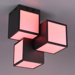 Trio Lighting Trio WiZ Oscar LED stropní světlo 30x30cm, černá