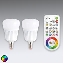 iDual iDual E14 LED žárovka řady 2 s dálkovým ovládáním