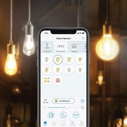 WiZ WiZ E27 LED ST64 - čirá 6,5 W 2 200-5 500 K