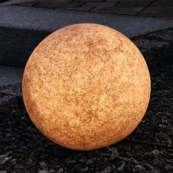 Heitronic Světlá dekorativní koule Mundan, 30 cm, terakota