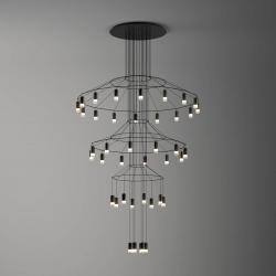 Vibia Vibia Wireflow LED závěsné světlo, 216 cm