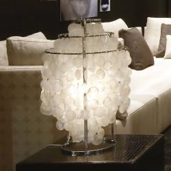 VERPAN VERPAN Fun 2TM - perleťová stolní lampa, chrom