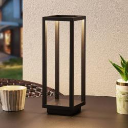 Lucande Lucande Kalamei LED venkovní lucerna, USB, černá