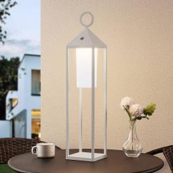 Lucande Lucande Miluma LED venkovní lucerna, 64 cm, bílá